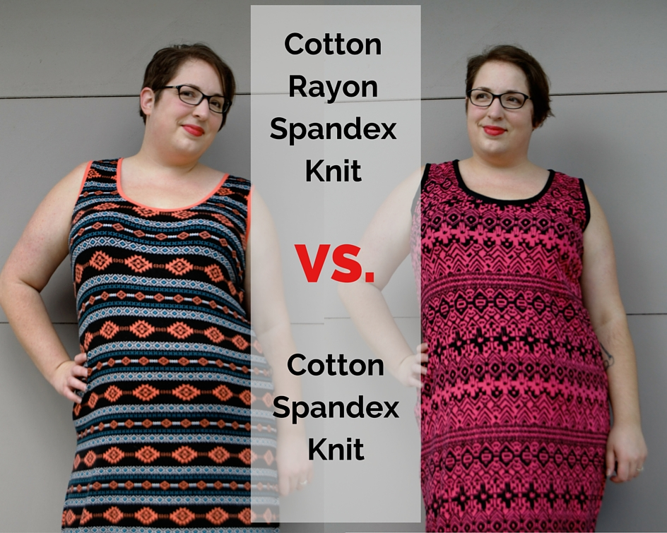 Cotton Rayon Spandex Knit VS Cotton Spandex Knit