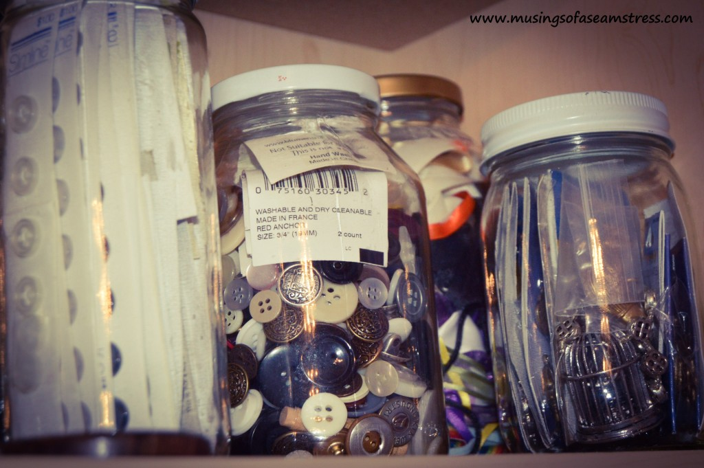 Musings of a Seamstress - button stash