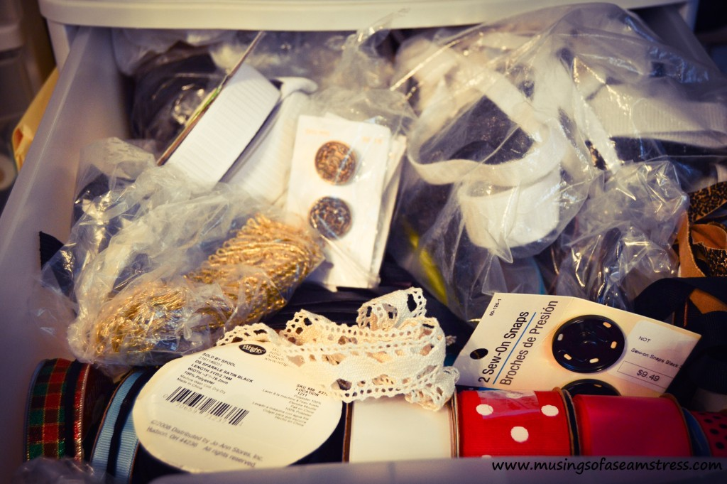 Musings of a Seamstress - notions stash